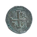 Ancient coin. Isolated detail of ancient coin Royalty Free Stock Photo