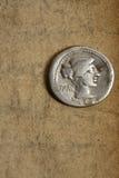ancient coin denauius silver Στοκ εικόνες με δικαίωμα ελεύθερης χρήσης