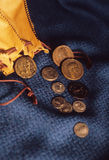 Ancient Coins. Ancient possibly roman coins from a collector Stock Photos