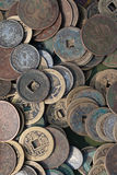 Ancient coins. Chinese ancient coins for sale Stock Photography