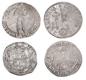 Ancient coins of different metals Royalty Free Stock Photography