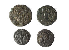 Ancient coins of Greece Stock Images