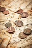 Ancient coins Royalty Free Stock Photography