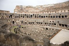 The Ancient Coleseum of Rome Italy Stock Image