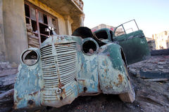 Ancient collapsed car Royalty Free Stock Photography