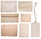 Ancient collection. (tag, notepaper, postcard, paper royalty free stock photo