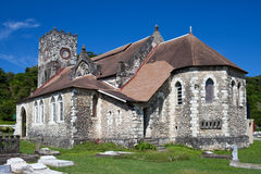 Ancient colonial church. Jamaica.City landscape Royalty Free Stock Images