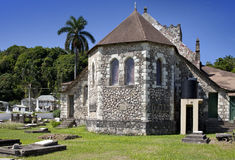 Ancient colonial church. Jamaica Royalty Free Stock Image