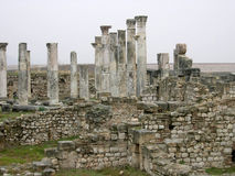 Ancient colonnade. Colonnade in Apamea, Syria Stock Photos