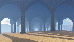 Ancient colonnade Royalty Free Stock Images