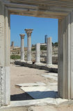 Ancient colonnade at Khersones Stock Photography