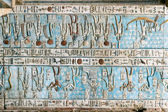 Ancient colored fresco. In the church of Egypt Royalty Free Stock Photography