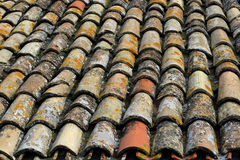 Ancient colored stone roof Stock Photography