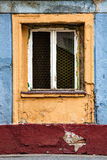 Ancient colored window. Vintage painted artistic background Royalty Free Stock Photo