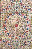Ancient colored wood pattern from Morocco Stock Photography
