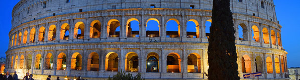 Ancient Colosseum in the city of Rome stock images