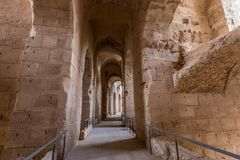 Ancient colosseum in El Jem, Tunisia Royalty Free Stock Photo
