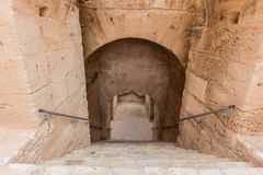 Ancient colosseum in El Jem, Tunisia Royalty Free Stock Images
