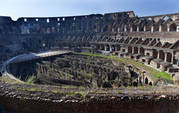Ancient Colosseum Inside Rome Italy Royalty Free Stock Photos
