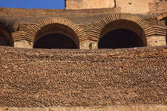 Ancient Colosseum Inside Wall Arches Rome Italy Royalty Free Stock Photos