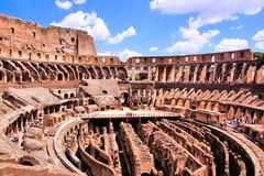 Ancient Colosseum of Rome Royalty Free Stock Images