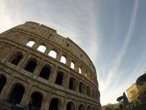 Ancient Colosseum in Rome, Italy Stock Images