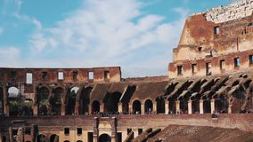 Ancient Colosseum Ruins Rome Italy stock video footage