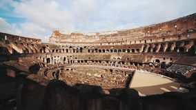 Ancient Colosseum Ruins Rome Italy stock video