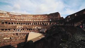 Ancient Colosseum Ruins Rome Italy stock footage