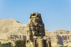 Ancient Colossi of  Memnon in Luxor, Egypt Royalty Free Stock Photo
