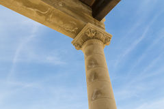 Ancient column detail Royalty Free Stock Images