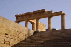 Ancient column in Lindos Stock Image