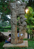 Ancient column at Pondicherry. royalty free stock photos
