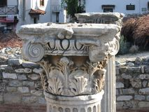 Ancient column. In Turkey, Selcuk town Stock Images