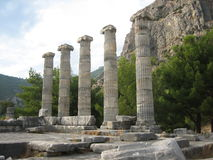 Ancient columns. Photo of ancient columns in a turkey Royalty Free Stock Image