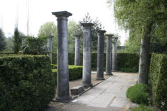 Ancient columns. Founded in Amstel park Royalty Free Stock Photography