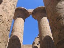 Ancient columns. Columns, Egypt, temple, Luxor, pharaon, hieroglyphs royalty free stock photo