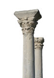 Ancient columns. Isolated with white background Stock Photography