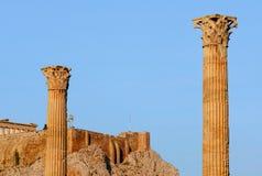 Ancient columns Stock Image