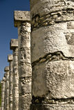 Ancient Columns at Chichen Itza Mexico. Ancient ruins ans coloumns in Chichen Itza Mexico Royalty Free Stock Photos