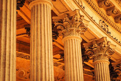Ancient columns in classic style Royalty Free Stock Images