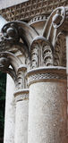 Ancient columns in Corinthian style Stock Photos