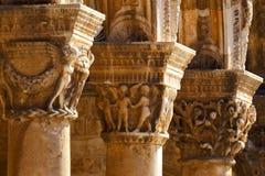 Ancient columns. Dubrovnik. Croatia. Old city. Stock Image