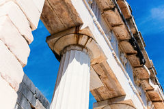 Ancient columns in Greece Royalty Free Stock Photography