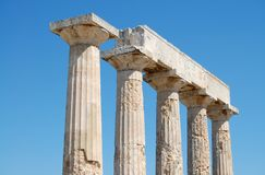 Ancient columns, island of Aegina Royalty Free Stock Photography