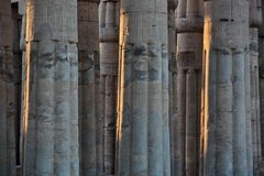 Ancient columns of Luxor temple Royalty Free Stock Images