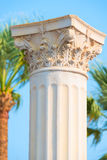 Ancient columns in the Mediterranean resort Stock Photos