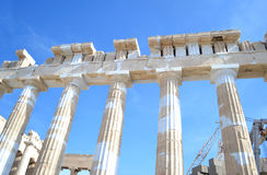 Ancient columns of Parthenon Acropolis Greece Stock Photography