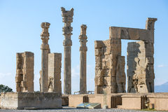 Ancient columns in Persepolis city Stock Photo