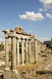 Ancient columns. Photo of some ancient Roman columns taken in the Roman Forum Royalty Free Stock Images